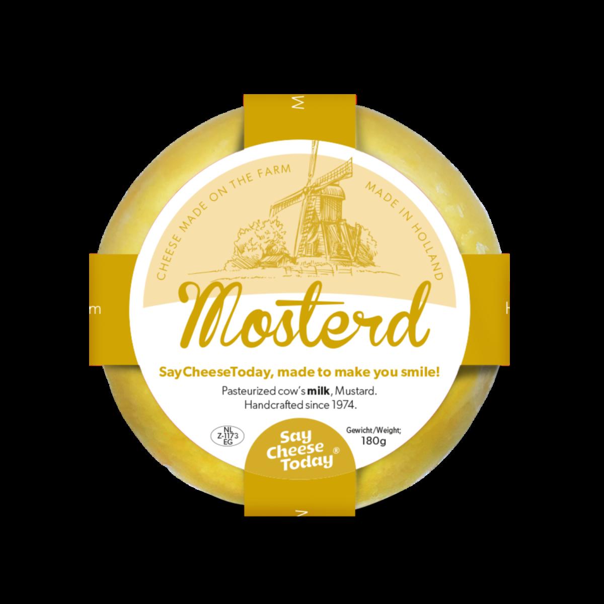 Brievenbus kaasjes 180 grams mosterd - Yipp & Co
