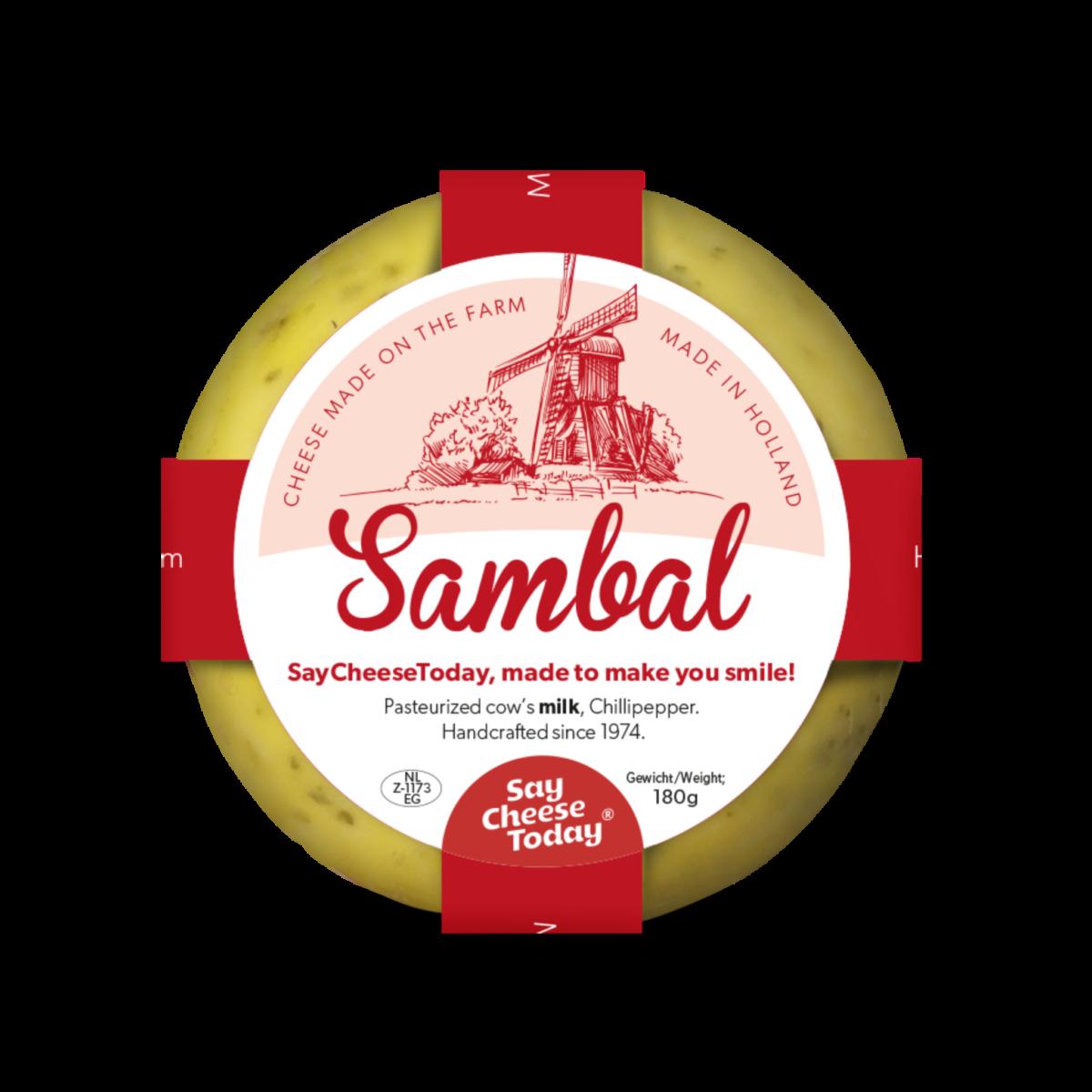 Brievenbus kaasjes 180 grams sambal - Yipp & Co