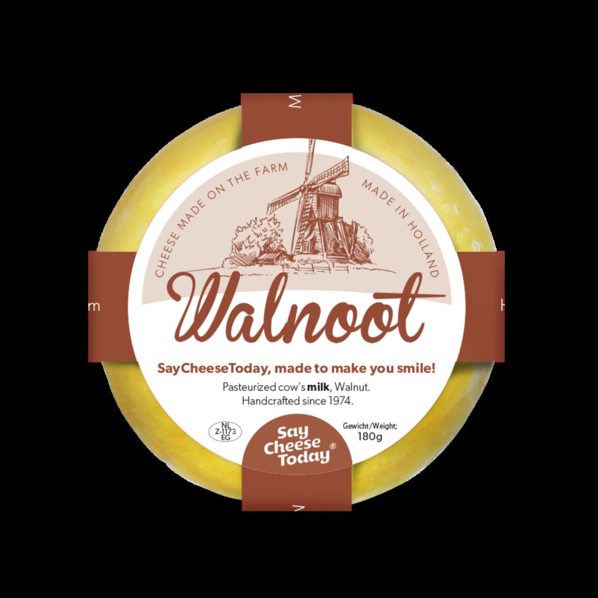 Brievenbus kaasjes 180 grams walnoot - Yipp & Co