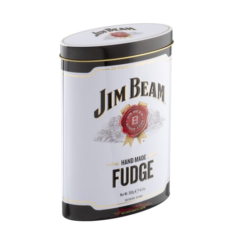 Whiskey Luxury Fudge Tin Jim Beam - Yipp & Co