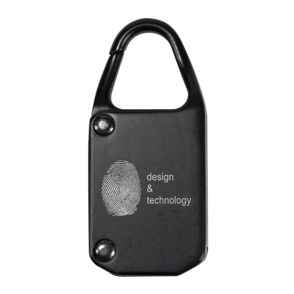 Hangslot vingerafdruk met lasergravering achterkant - Yipp & Co