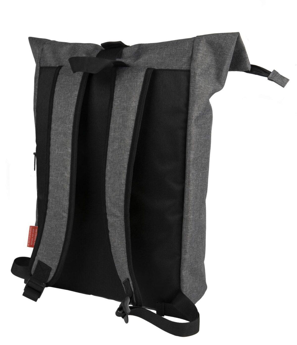 rPET Backpack Roll-top achterzijde - Yipp & Co