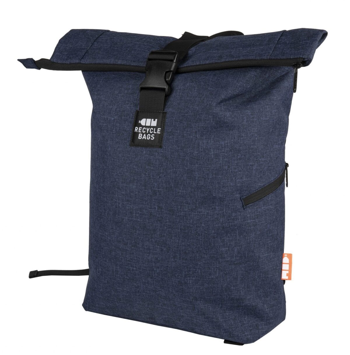 rPET Backpack Roll-top navy - Yipp & Co
