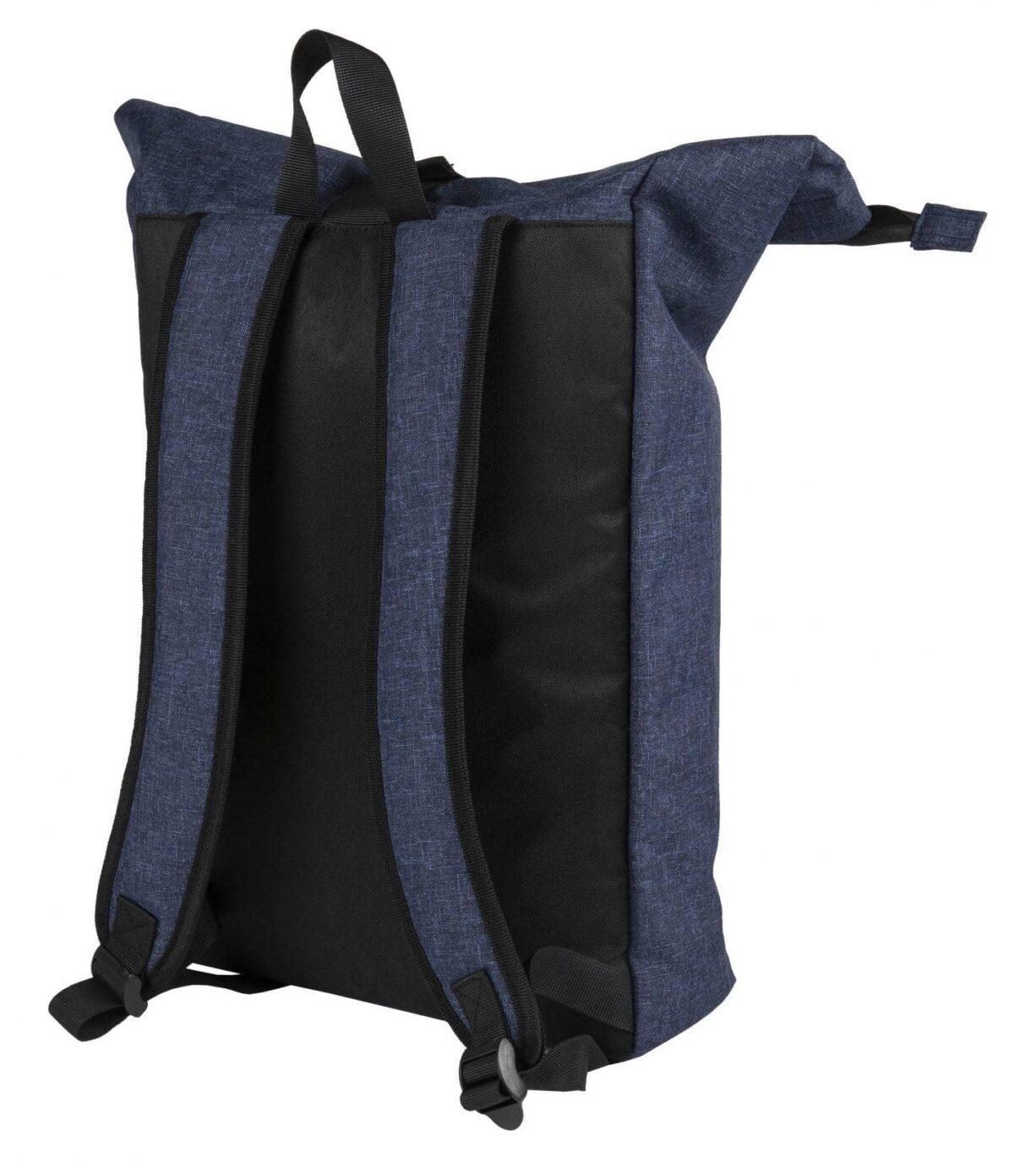 rPET Backpack Roll-top navy achterzijde - Yipp & Co