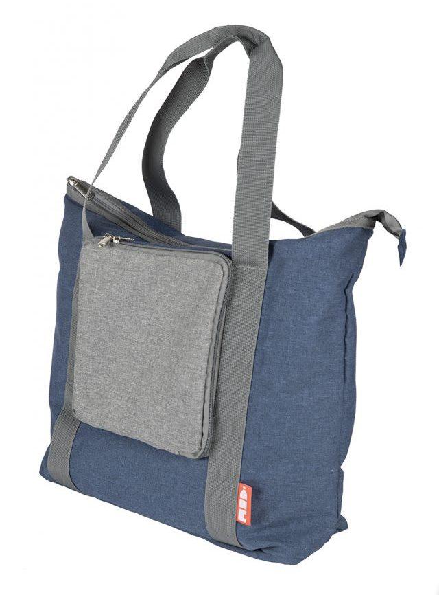 rPET draagtas opvouwbaar blauw - Yipp & Co