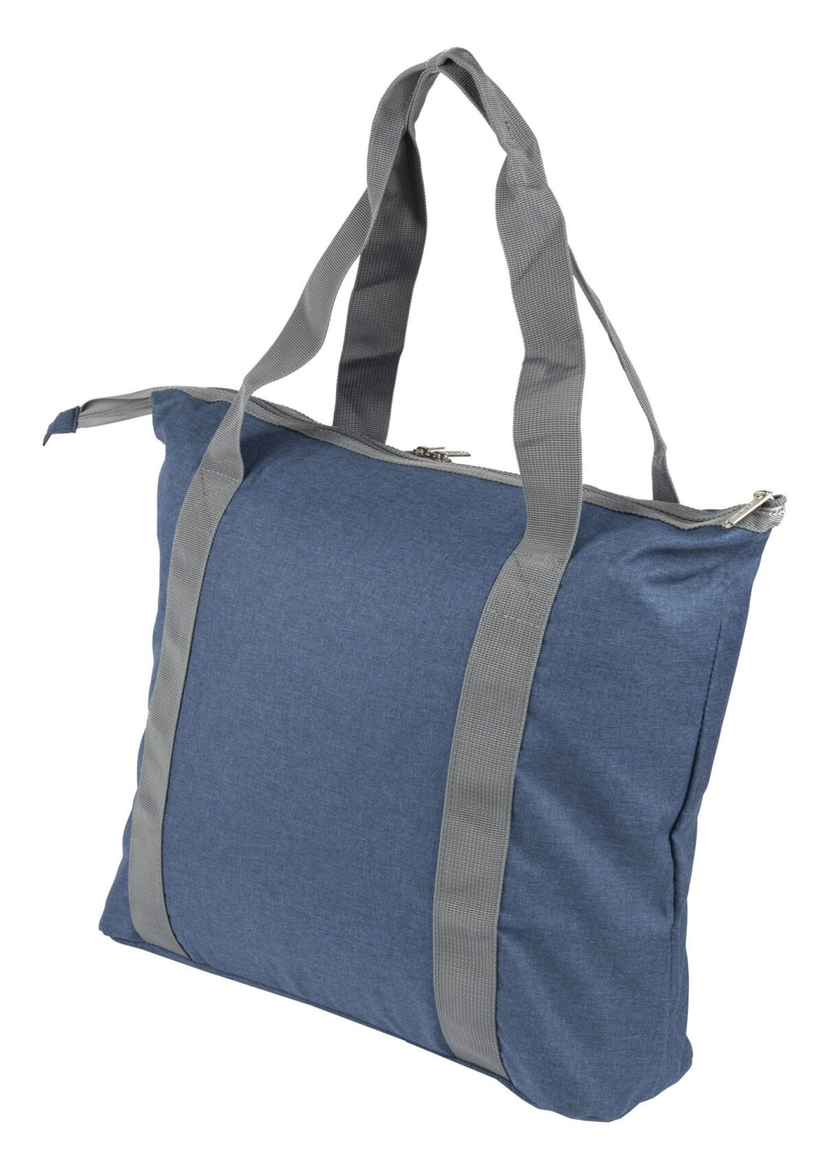 rPET draagtas opvouwbaar blauw achterzijde - Yipp & Co