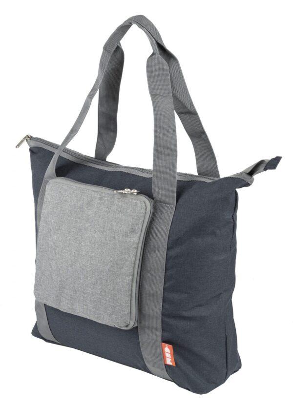 rPET draagtas opvouwbaar grijs-navy - Yipp & Co