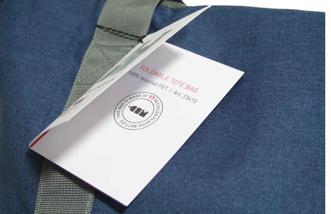 rPET draagtas opvouwbaar label - Yipp & Co