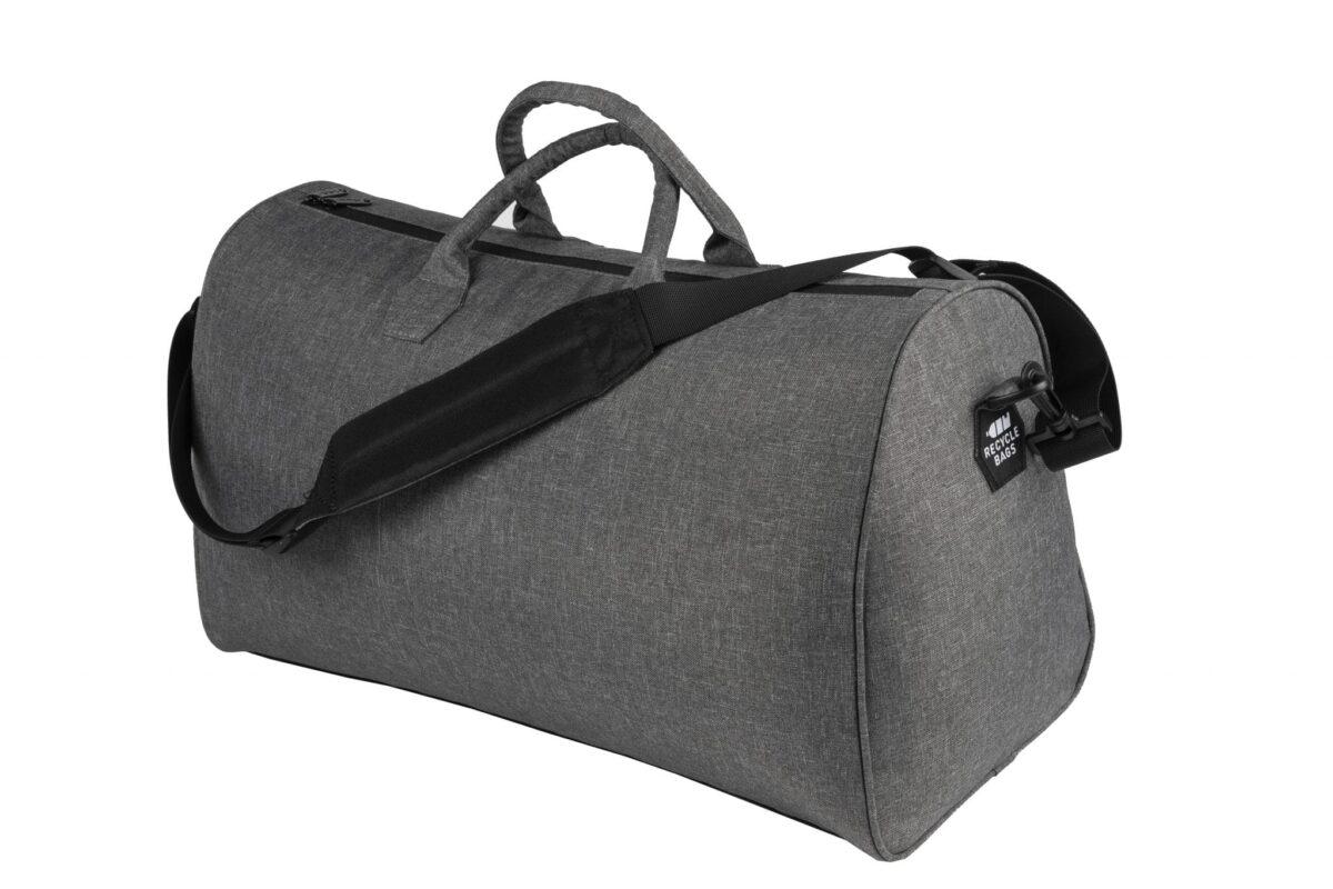 rPet duffel bag grijs achterzijde - Yipp & co
