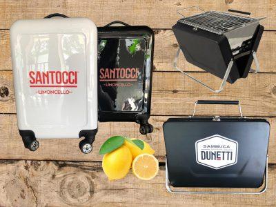 Trolley en koffer bbq Santocci